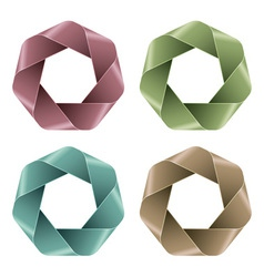 Set of Abstract Polygon icons vector image