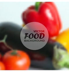 Realistic food background of different vegetables vector