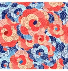 unusual floral pattern vector image
