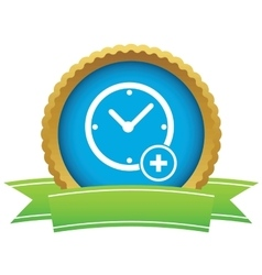 Add time certificate icon vector