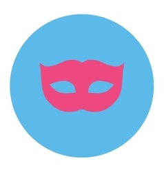 Privacy mask flat pink and blue colors round vector