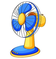 Close up electronic fan vector