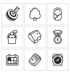 Incentives life icons vector