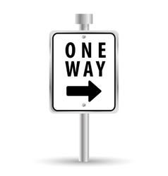 One way road sign advertising design vector