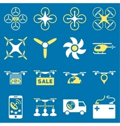 Drone service icon set vector