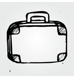 Hand drawn suitcase vector