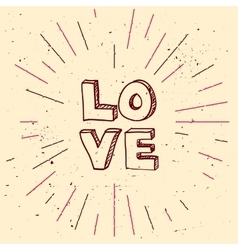 Handdrawn background for saint valentines vector