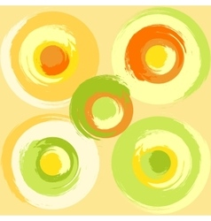 Big grunge multicoloured circles vector
