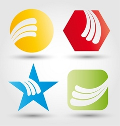 Abstract business icon set vector image