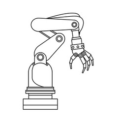 Arm hand cyber machine industry vector