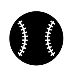Baseball ball isolated icon vector