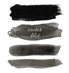Big black blot collection vector