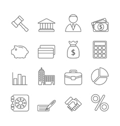 Business Line Icons Set vector image vector image