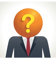 Business Question vector image vector image