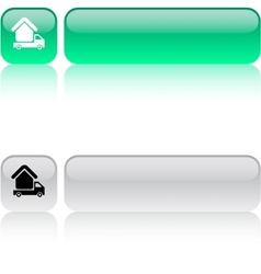 Camper square button vector image vector image