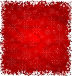Christmas Border Made in Snowflakes vector image vector image
