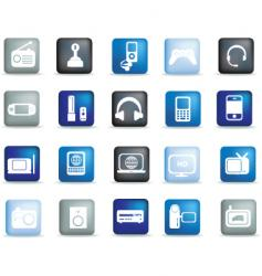 Electronics buttons vector