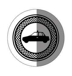 Emblem taxi side car icon vector