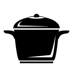 Enameled pot icon simple style vector image vector image