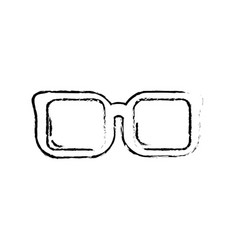 Figure optical glasses to can see better vector