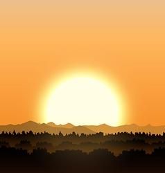 Gold sunset vector