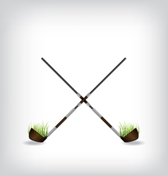 Golf stick vector image