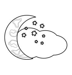 half moon icon vector image vector image