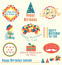 Happy birthday labels vector