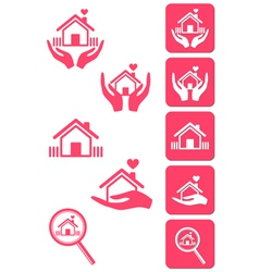 Home icons signs vector
