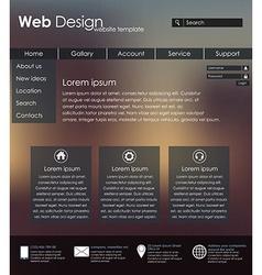 Menu design for web site vector image vector image