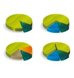 pie graph vector image