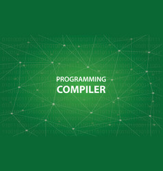 programming compiler concept white vector image vector image
