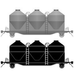 Railway carriage for bulk cargo-2 vector