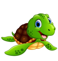 Smiling turtle cartoon vector