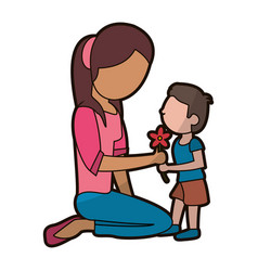 son gift flower mother image vector image vector image