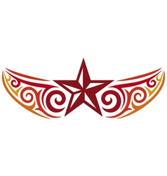 tattoo star design vector image vector image