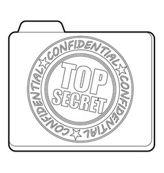 Top secret icon outline style vector