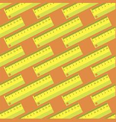 Yellow wooden ruler seamless pattern vector
