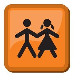 Boy and Girl icon vector image