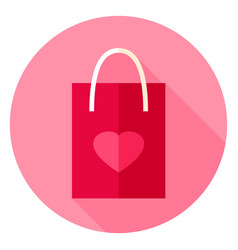 love package circle icon vector image