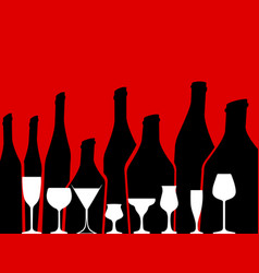 Alcohol background vector