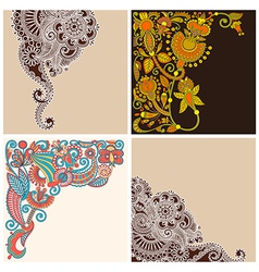 Collection of ornate card announcement vector
