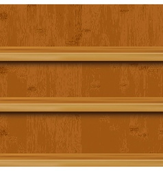 Wooden book shelf vector
