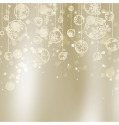 Abstract Christmas with snowflakes EPS 8 vector image