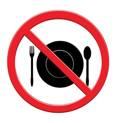 Do not eat sign icon vector