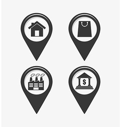 Gps icons vector