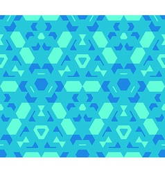 Blue cyan green color abstract geometric seamless vector