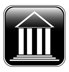 Bank symbol button vector