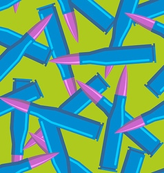 Colored bullets for hippies blue military ammo vector