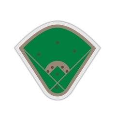 A field for baseball vector